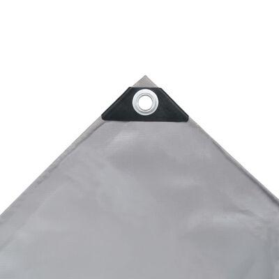 vidaXL Presenning 650 g/m² 1,5x6 m grå