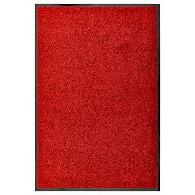 vidaXL Dörrmatta tvättbar röd 60x90 cm