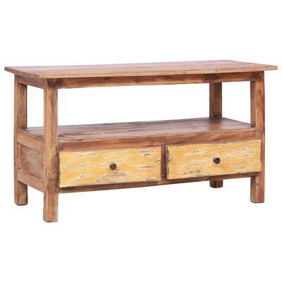 vidaXL TV-bänk 90x40x50 cm massivt återvunnet trä