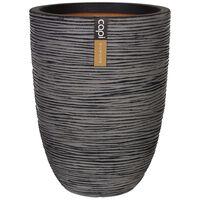 Capi Vas Nature Rib elegant låg 46x58 cm antracit KOFZ783