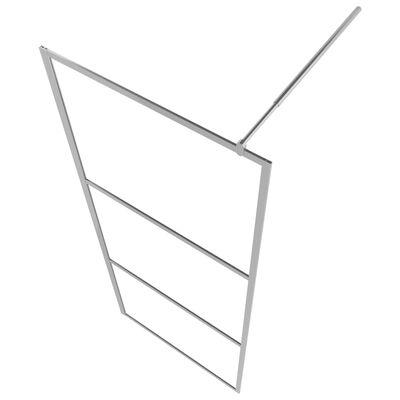 vidaXL Duschvägg med halvfrostat ESG-glas 90x195 cm