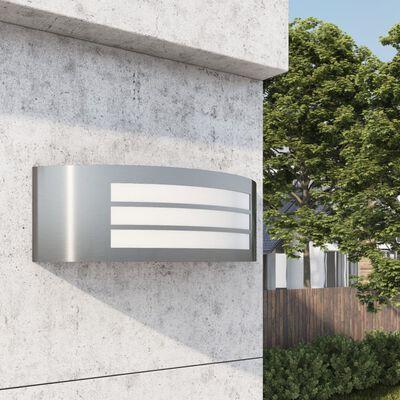 vidaXL Utomhusvägglampa rostfritt stål