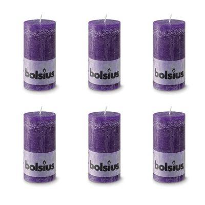 Bolsius Blockljus 130x68 mm 6-pack lila