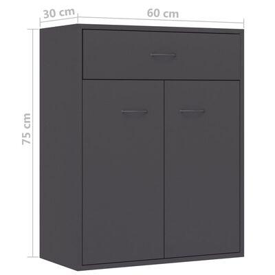 vidaXL Skänk grå 60x30x75 cm spånskiva
