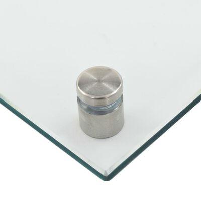 vidaXL Stänkskydd transparent 70x40 cm härdat glas