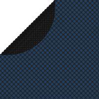 vidaXL Värmeduk för pool PE 300 cm svart och blå