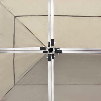 vidaXL Hopfällbart partytält aluminium 6x3 m gräddvit