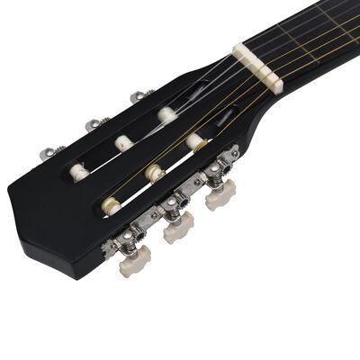 """vidaXL Gitarr för nybörjare 8 delar klassisk svart 3/4 36""""       , Svart"""