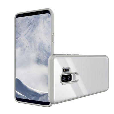 Samsung Galaxy S9 Skal i Härdat Glas - Vit