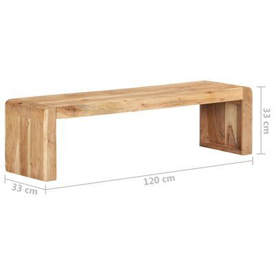 vidaXL TV-bänk 120x33x33 cm massivt akaciaträ