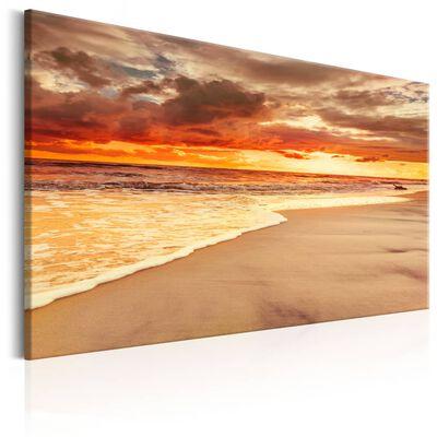 Tavla - Beach: Beatiful Sunset Ii - 120x80 Cm