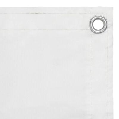vidaXL Balkongskärm vit 90x500 cm oxfordtyg
