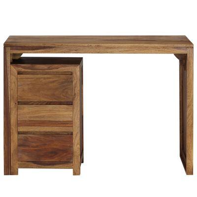 vidaXL Skrivbord massivt sheshamträ 110x55x76 cm,