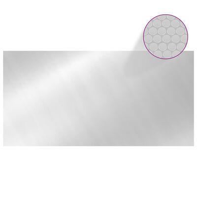 vidaXL Poolskydd silver 732x366 cm PE