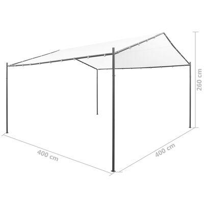 vidaXL Paviljong 400x400x260 cm vit 180 g/m²