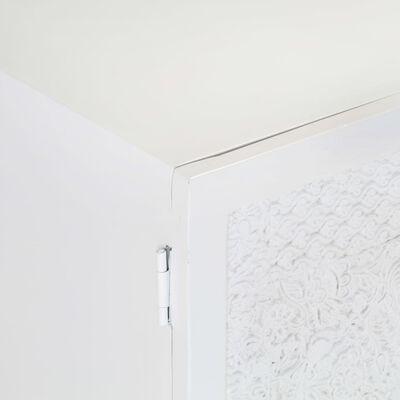 vidaXL TV-bänk vit 115x30x46 cm massivt grovt mangoträ