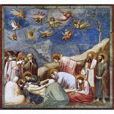 The Lamentation of Christ,GIOTTO di Bondone,50x50cm