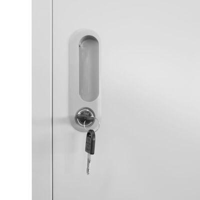 vidaXL Klädskåp för omklädningsrum med 3 fack stål 38x45x180 cm