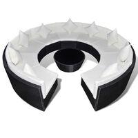 vidaXL Loungegrupp för trädgården m. dynor 10 delar konstrotting svart