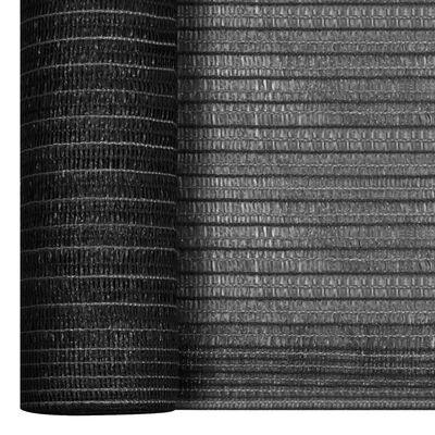 vidaXL Insynsskyddsnät antracit 2x50 m HDPE 75 g/m²
