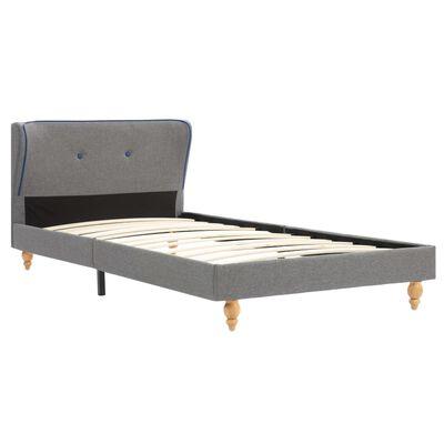 vidaXL Säng med memoryskummadrass ljusgrå tyg 90x200 cm