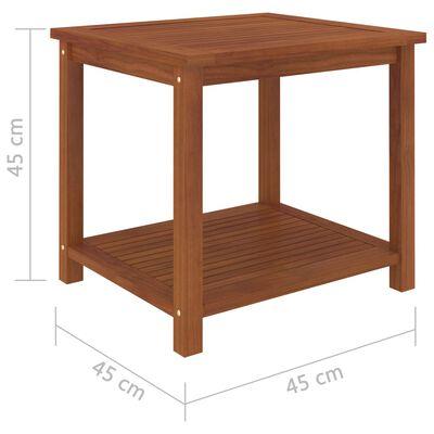 vidaXL Sidobord massivt akaciaträ 45x45x45 cm