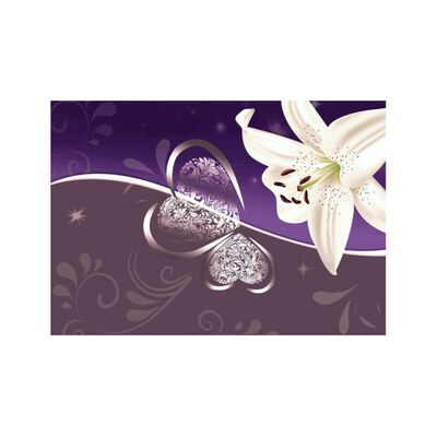Fototapet - Lily In Shades Of Violet - 400x280 Cm
