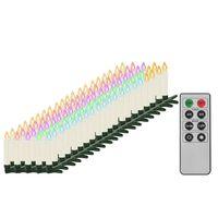 vidaXL Trådlösa LED-ljus med fjärrkontroll 100 st RGB