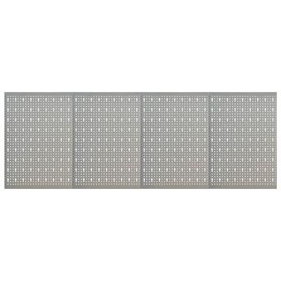 vidaXL Väggmonterade verktygstavlor 4 st 40x58 cm stål