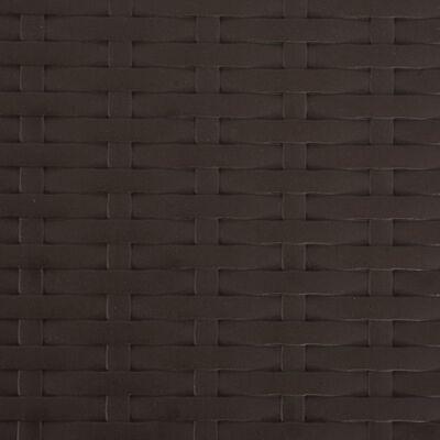 vidaXL Hopfällbara trädgårdsstolar 2 st konstrotting HDPE & stål brun