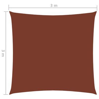 vidaXL Solsegel oxfordtyg fyrkantigt 3x3 m terrakotta
