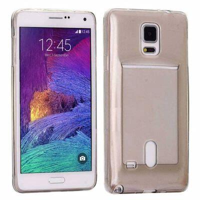 Silikon skal med kortplats Samsung Galaxy Note 4 (SM-N910F) Grå