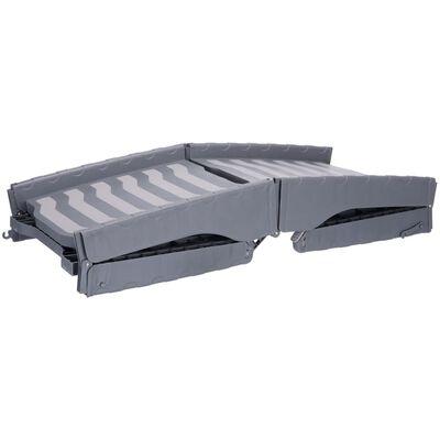 TRIXIE Vikbar husdjursramp 3-delars vikning 39x150 cm grå 39476