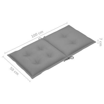 vidaXL Dynor för trädgårdsstolar 4 st grå 100x50x7 cm