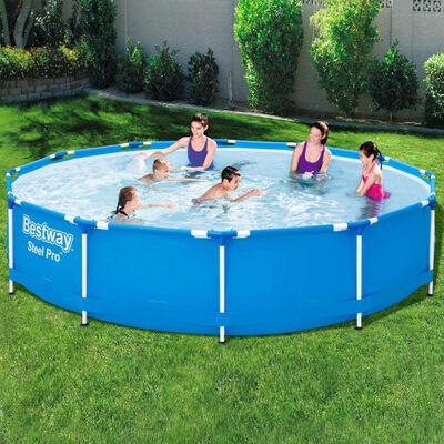 Bestway Pool med stålram Steel Pro 366x76 cm