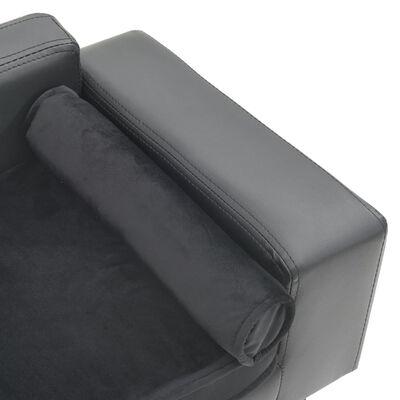 vidaXL Hundsoffa grå 81x43x31 cm plysch och konstläder