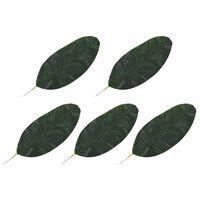 kvidaXL Konstgjorda blad bananträd 5 st grön 50 cm