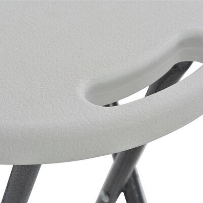 vidaXL Hopfällbara barstolar 2 st HDPE och stål vit