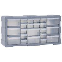 vidaXL Sortimentskåp med 22 lådor 49x16x25,5 cm