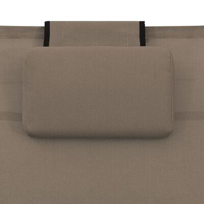 vidaXL Solsäng textilen och aluminium taupe