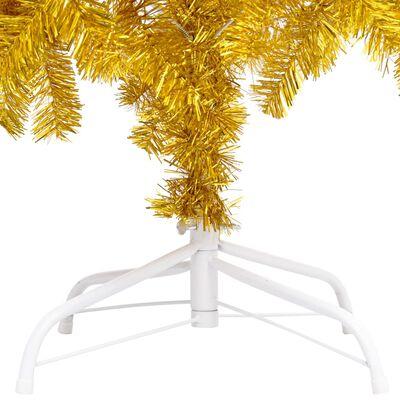 vidaXL Plastgran med fot guld 150 cm PET
