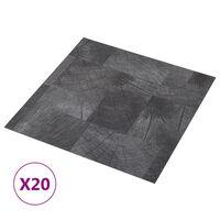 vidaXL Självhäftande golvplankor 20 st PVC 1,86 m² trästruktur