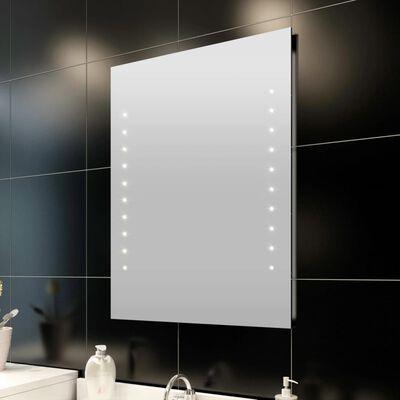 vidaXL Badrumsspegel med LED-lampor 60 x 80 cm (L x H)