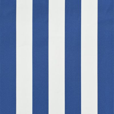 vidaXL Markis med LED 200x150 cm blå och vit