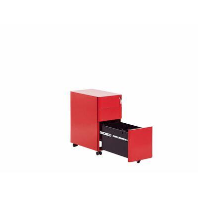 Kontorsskåp metall röd BOLSENA