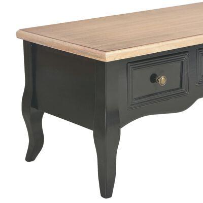 vidaXL TV-bänk svart 100x35x35 cm trä, Svart