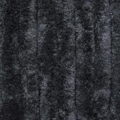 vidaXL Insektsdraperi antracit 90x200 cm chenille