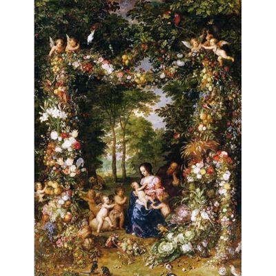 The Holy Family,Jan Brueghel The Elder,50x38cm