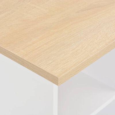 vidaXL Barbord vit och antracit 60x60x110 cm