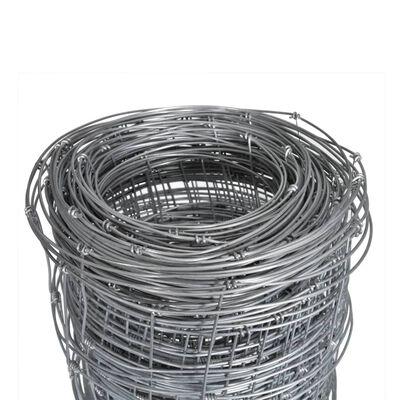 vidaXL Fårstängsel galvaniserat stål 50x1 m silver